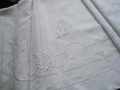 Gorgeous Xl Vintage French Pure Linen Sheet, Superb Bedding Fabric Or Curtain