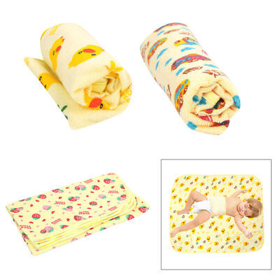 AU Cotton Baby Urine Mat Infant Waterproof Bedding Changing Pad 3 Sizes 3 Colors