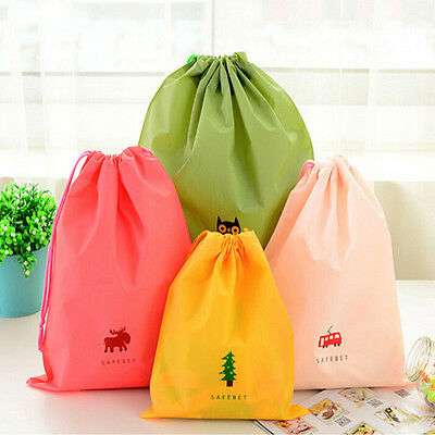 Waterproof Drawstring Bag Travel Bathroom Wash Pouch Shoes Clothes Storage Bag