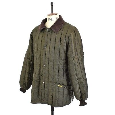 Men's Olive Green BARBOUR COUNTRY Quilted Outdoor Sporting Jacket UK L