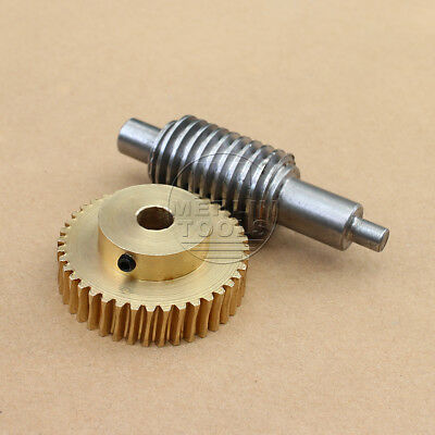 1 Modulus 20 to 60 Teeth Worm and Gear Set For Shaft Drive Gearbox - Select