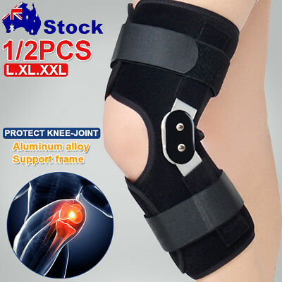Double Metal Hinged Full Knee Support Brace Knee Protection Tennis Skiing Sports