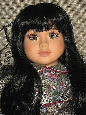 """MY TWINN Raven-haired 23"""" ?Native American? Doll ~ Sitting Position with Chair"""