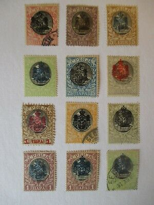 Serbia  Stamps - 1903 - Overprints - Small Collection.