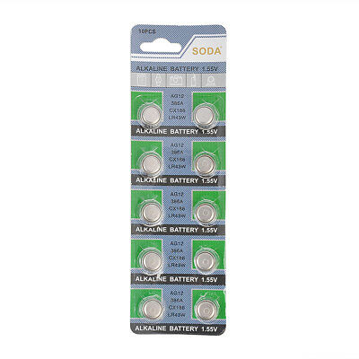 10pcs/pack Batteries AG12 L1142 LR43 386A SR43 Coin Button Cell Watch Battery
