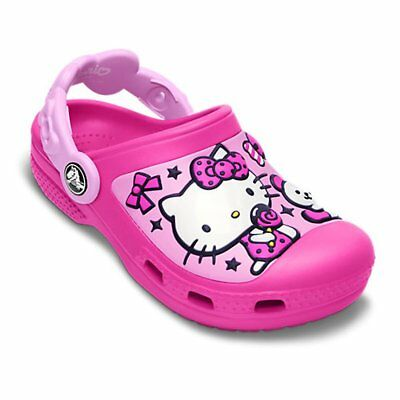 9f0ce6acd1cb CROCS KIDS HELLO Kitty Candy   Ribbons Neon Magenta Carnation ...