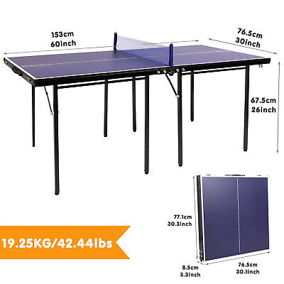 Blue Multi Table Tennis Table Ping Pong Indoor Outdoor Folding Set Portable