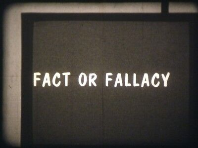 Fact Or Fallacy 16mm short film 1960 B&W Dr. Burr Roney
