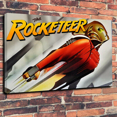 "The Rocketeer Printed Canvas Picture A1.30""x20"" x 30mm Deep Art Deco Wall Art"