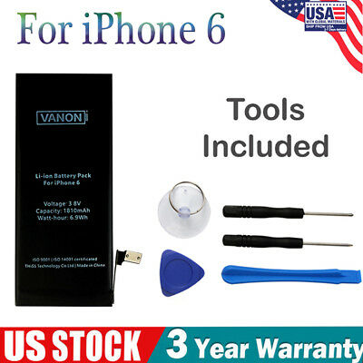Replacement Internal Battery For Apple iPhone 6 1810mAh Band New With Free Tools