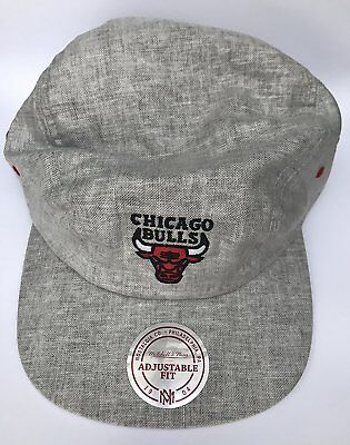 Mitchell and Ness Adults Unisex Chicago Bulls Baseball Cap CHIBUL Y477Z GRY