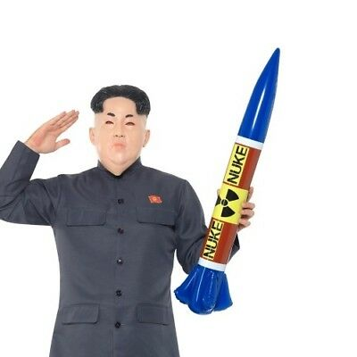 Inflatable Nuclear Missile Fancy Dress Accessory Blow Up Nuke Bomb New