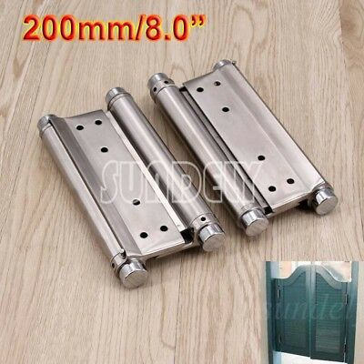 2Pcs 8'' Cafe Saloon Door Swing Self Closing Double Action Spring Hinge FAST