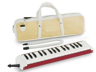 E05 32 Piano Keys Red Musical Instrument Melodica Pianica With Carrying Bag O
