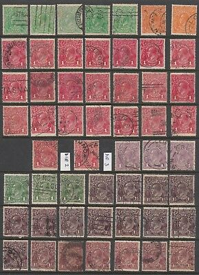 Australia KGV Used Collection on 4 Hagnars (155 stamps)