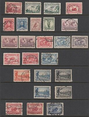 Australia Predecimal Used Collection on 10 Hagnars