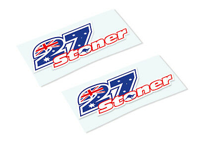 CASEY STONER 27 Classic Retro Car Motorcycle Decals Stickers