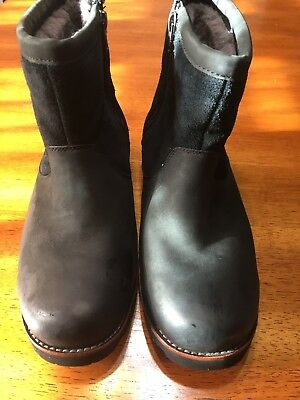 Ugg Classic Mini Zip Waterproof Black Suede Winter Mens Boots Size