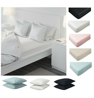 IKEA Dvala Fitted Sheet, Bed Sheet, Quilt Cover and Pillowcase