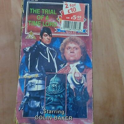 DOCTOR WHO TRIAL OF A TIMELORD 3 PIECE BOXED VHS 30th anniversary 1963-1993