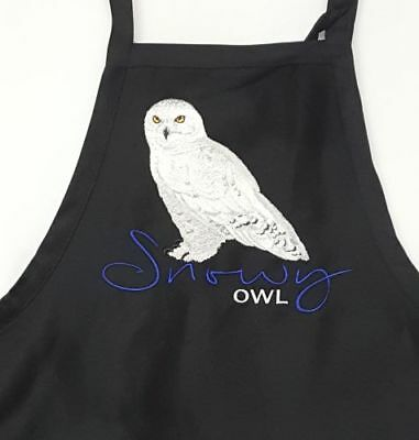 Snowy Owl Embroidered Apron