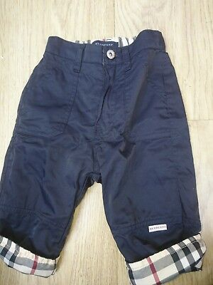 boys navy BURBERRY trousers age 6 months