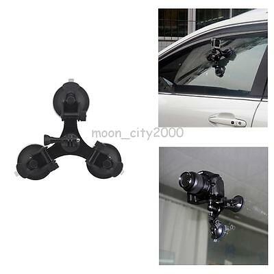 Car Windshield Triple Vacuum Suction Cup Mount Small Size Sucker For Gopro