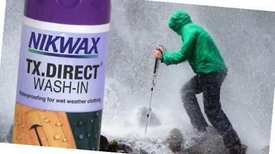 New Nikwax Tx. Direct Wash-In 1L Fabric Washing Treatment Cleaning