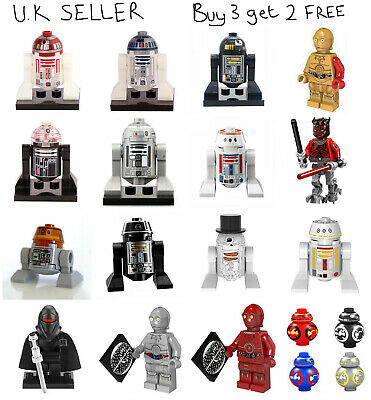 Star Wars Astromechs R2-D2 BB-8 Minifigure R2D2 BB8 Mini Figure Darth Vader Sith