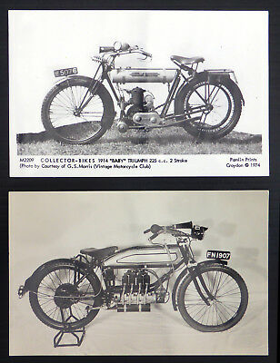 Pair of Motorcycle Postcards (2) BE285