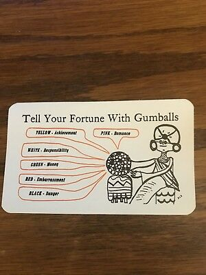 Ford Gum Fortune Teller Label For Marquee
