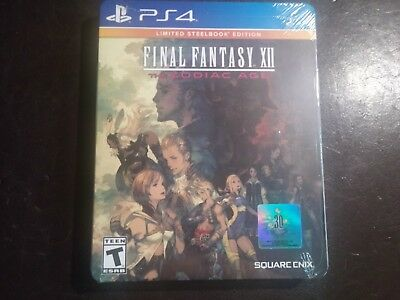 Final Fantasy XII The Zodiac Age Limited SteelBook Edition (PlayStation 4) NEW!!