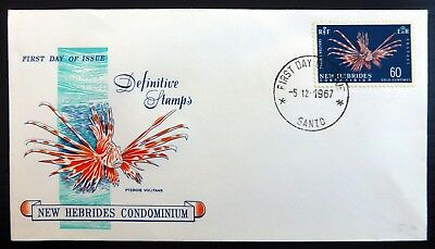 NEW HEBRIDES 1967 - 60c Definitives on FDC BC853
