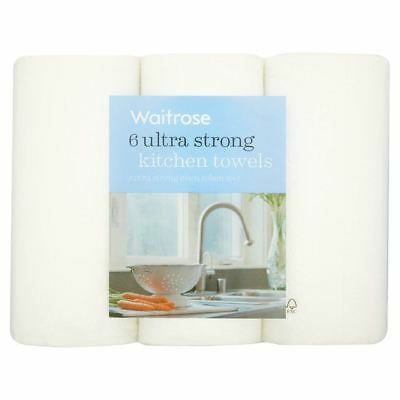 Ultra Strong Kitchen Towel White Waitrose 6 per pack (Pack of 4)