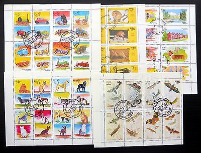 OMAN 1970's - 10 Sheetlets of 8 Cancelled AC114