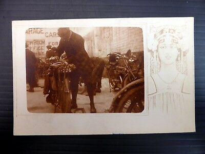 Vintage Motorcycle Photographic Postcard BE324