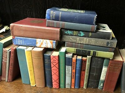 Lot of 10 mix Vintage BOOKS - Unsorted - Collectible Antique Decor Bookshelf