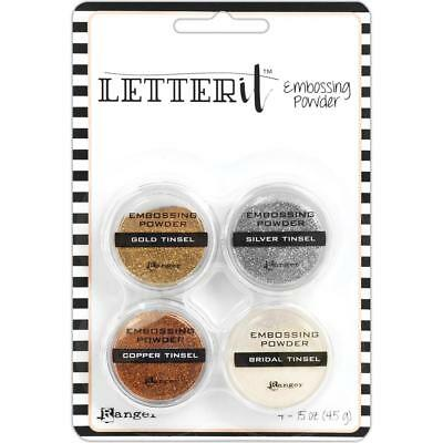 EMBOSSING POWDER SET - Ranger Letter It (choice of Metallics or Tinsels)