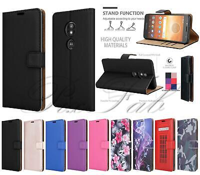 New Genuine Leather Wallet Phone Case Cover For Motorola Moto E5 G6 Play / Plus