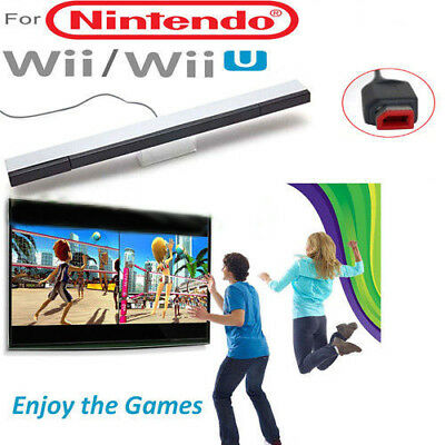 Wired Remote Infrared Ray Wireless Motion Sensor Bar for Nintendo Wii / Wii U