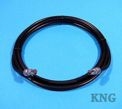 Custom TV Aerial Cable Coaxial Coax Lead + Extension Socket 2m/3m/4m/5m/6m/7m/8m