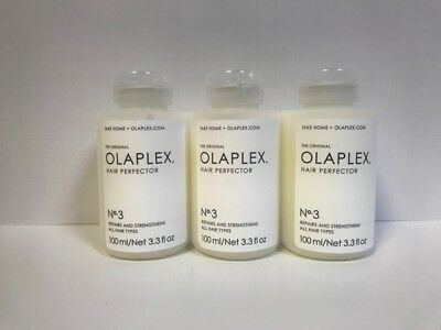 OLAPLEX HAIR PERFECTOR NO 3 - 3.3oz X3 (NEW & SEALED)