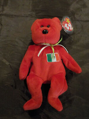 """NEW - TY BEANIE BAY """"OSITO"""" MEXICAN BEAR (1999)  with TAG 9 inches"""