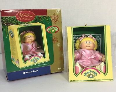 """Carlton Heirloom Collection 2004 Blonde """"Christmas Rose"""" Cabbage Patch Ornament"""
