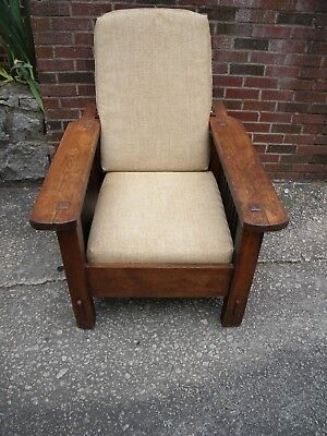 Arts&Crafts Mission Reclining Morris Chair, very old.