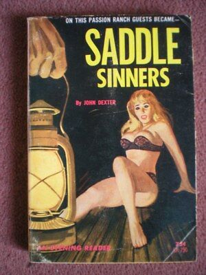 SADDLE SINNERS (1964) SLEAZE paperback HARRY WHITTINGTON