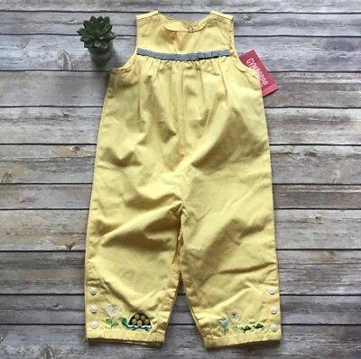 NWT Gymboree Girls Prep Club Turtle Overalls Size 12-18 mos