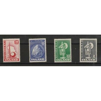 1940  Islanda Iceland  Expo New York  4 Val Mlh Mf56767