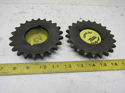 "Martin 50BTB22 22T 4-3/4"" OD Bushing Bore Roller Chain Sprocket Lot OF 2"