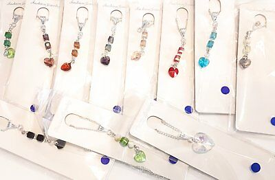 Wholesale Job Lot 11 Hand Made Crystal Heart Silver Plated Necklaces Jewellery